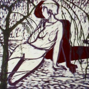 Horst Drumel, O.T.,70x50, Holzschnitt
