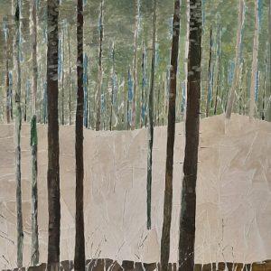 Ilse Menschick-Hartlieb, Waldstück, 80x60 cm, Acryl auf Leinwand