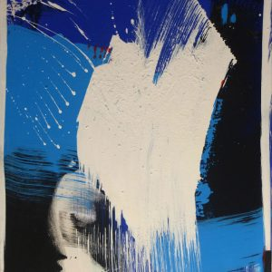 Peter Winkler, O. T., 100x80 cm, Acryl