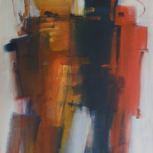 Arnold Kreuter, Aufstand., 50x70 cm, Acryl auf Leinwand