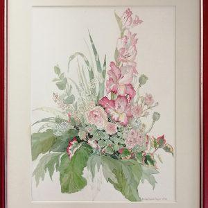 Ulrike Roesler, Gladiolen, 50x40 cm, Aquarell