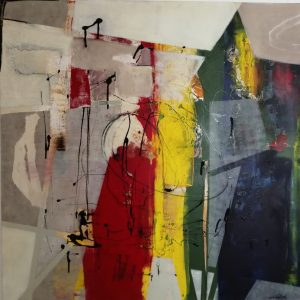 Margret Joch, O.T., 100x100 cm, Acryl auf Leinwand