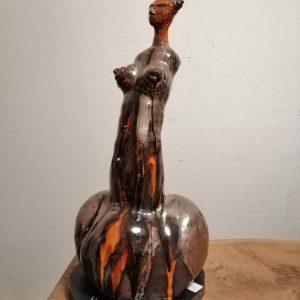 Johanna Tschabitscher, Skulptur aus Ton , Höhe 55c m