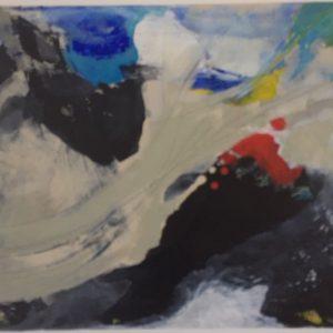 Gudrun Habenicht, 50x40, O. T., Acryl auf LW