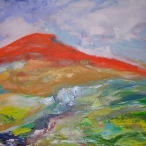 Elisabeth Schwandter, Roter Berg, 60x80 cm, Öl auf Leinwand
