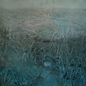 Carolin Meinl, O. T., 80x80 cm, Mischtechnik auf Leinwand