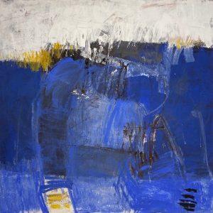 Petra Treffner, Spiegelungen, 100x100 cm gerahmt, Acryl/Zellulose auf Papier